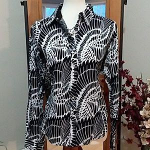Black & White Twenty X Button Up Shirt